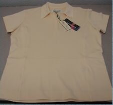 New Women's Sport Haley Aerocool Short Sleeve Yellow Polo WF07002