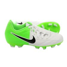 Nike TOTAL 90 SHOOT IV FG EURO 2012 SOCCER SHOES White /Green KIDS - YOUTH