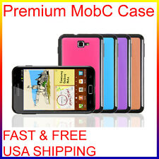 MobC Galaxy NOTE i9220 N7000 i717 Glossy Melo Fit Soft Grip TPU Hard Case+Screen