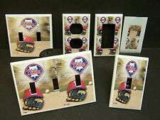 PHILADELPHIA PHILLIES  #3 BASEBALL  LIGHT SWITCH COVER PLATE OR OUTLET COVER