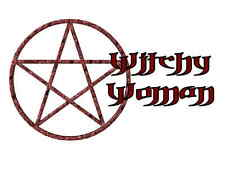Custom Made T Shirt Witchy Woman Wicca Wiccan Pentegram Witch Awesome