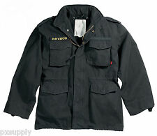 M-65 FIELD JACKET BLACK VINTAGE MILITARY COAT M65 ROTHCO 8608