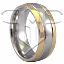 Classic Gold Stainless Steel Ring | Wedding Band Sizes 5-17 | Casual Rings