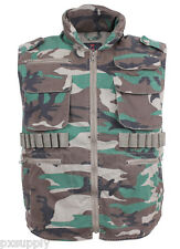 ranger vest vintage style military vest woodland camo camouflage rothco 8552