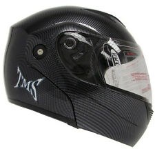 Carbon Fiber Flip Up Full Face Motorcycle Helmet Street DOT Approved ~S/M/L/XL