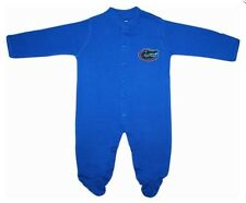 UF Florida Gators Long Sleeve Footed Baby Romper with Snaps Infant Newborn New
