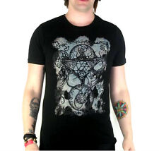 TOO FAST DEMON GATE ILLUMINATI GOTHIC PUNK EMO GOTH SATANIC DEVIL TEE T SHIRT