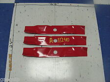 ROTARY 11240-LOT OF 3-USA BLADES, EXMARK 103-6391 103-6391-S, MULCHING BLADES