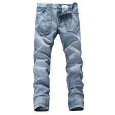 NEW MENS FOXJEANS 100% COTTON MEN'S BLUE DENIM JEANS SIZE: 30,32,34,36,38,40,42