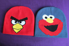 Fabulous Red Angry Bird, Blue Cookie Monster, Beanie, Woolly Hats, Winter Hats