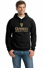 ARSENAL HOME SHIRT TOP GUINNESS BLACK HEAVYWEIGHT HOODIE SWEAT ALL SIZES S - XXL