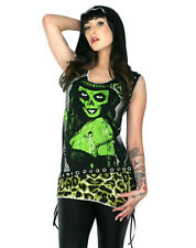 TOO FAST TATTOO GLAMOURPUS SKULL GOTHIC PUNK EMO ZOMBIE DRESS PIN UP TUNIC SHIRT
