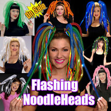 LIGHTUP Flashing Blinking NOODLE HEAD BAND Night Time Party Fun Supplies!