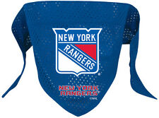 NEW NEW YORK RANGERS PET DOG MESH HOCKEY JERSEY BANDANA ALL SIZES