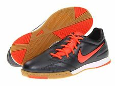 Nike TOTAL 90 SHOOT IV IC INDOOR 2012 SOCCER SHOES BLACK/ORANGE BRAND NEW