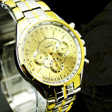 FREE SHIPPING NEW GRAND LUXURY WATCHES MEN'S QUARTZ STAINLESS STEEL WRIST WATCH