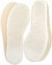 2 PAIRS GENUINE LAMBSWOOL INSOLES WITH  CUSHIONED SOLE