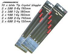 NGT Crystal Waggler float set 5 or 10 pc 2BB - 6BB Great for fishing Tackle Box.