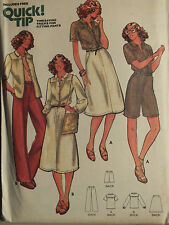 VTG 70s BUTTERICK 5922 Misses SHIRT SKIRT PANTS & SHORTS Pattern 8~10~12~14 UC