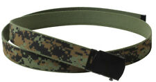 "web belt military style woodland digital camo reversible 54"" long rothco 4298"