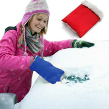 "GearXS 6.5""x9.5"" Thermal Ice Scraper Mitt in Red Or Blue-Forget Freezing Hands!"