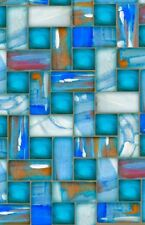 Blue Glass Image Abstract Unique New  LIGHT SWITCH PLATE cover  WALL ART