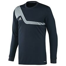 adidas Bilivo ClimaLite Soccer GOALKEEPER GOALIE Jersey Brand New Navy / Silver