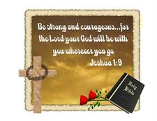Custom Made T Shirt Be Strong Courageous Lord God Be With You Bible Christian