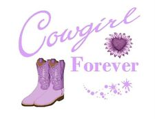 Custom Made T Shirt Cowgirl Choice Forever Attitude Boots Western Rodeo