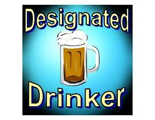 Custom Made T Shirt Designated Drinker Mug Beer Drunk Drinking Alcohol Funny