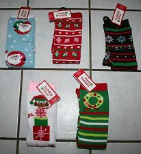 New Ladies HOLIDAY TIME Christmas Knee Socks ~Various Styles~ Shoe Sz 4-10