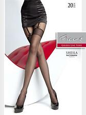 "MOCK SUSPENDER -TIGHTS-FIORE "" SHEILA"" 20 Denier- Imitating Hold Ups Style"