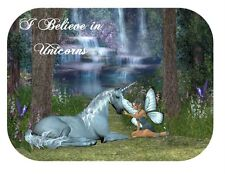 Custom Made T Shirt Believe In Unicorns Unicorn Fairy Beautiful Fantasy Scene
