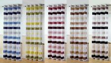 STIRLING PLAIN STRIPE VOILE CURTAIN PANEL RING / EYELET TOP USE ON CURTAIN POLE