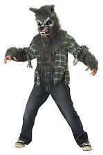 Child Werewolf Wolf Howling At The Moon Costume Halloween