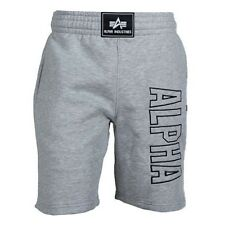 Alpha Industries Track Short Grey Heather Freizeithose Trainingshose Grau Hose