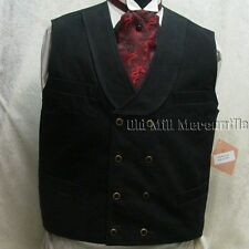 Frontier Classics BLACK double breasted OLD WEST Cowboy western mens vest S-3X