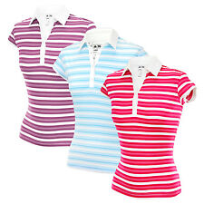 Adidas Taylormade Womens ClimaLite Merchandising Golf Stripe Polo