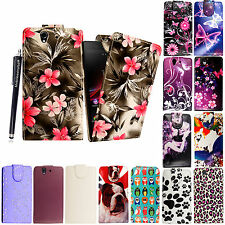 SONY XPERIA Z (C6602 C6603 LTE) FLIP PU LEATHER MAGNETIC CASE COVER+ FREE STYLUS
