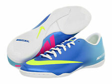 Nike Mercurial Victory IV IC Indoor Soccer SHOES 2013 Blue/Pink/Volt New