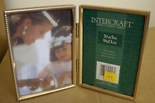 Intercraft - Double Gold Metal Frames with Glass.  New!