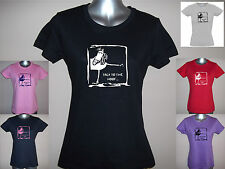 NEW TALK TO THE HOOF, LADIES FUNNY HORSE T-SHIRT, S M L XL XXL PLAIN / GLITTER
