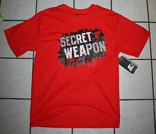 NWT Boys STARTER Orange Active Graphic Tee ~I'm the Secret Weapon~ Var Sizes