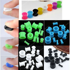 Mixed Size Colour Flexible Silicone Double Ear Plug Flare Tunnels Earlet Gauges