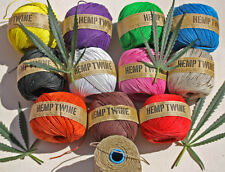 100% Pure Hemp Twine / Cord          130 Metre  (430 ft)   BALL x 1MM Thick