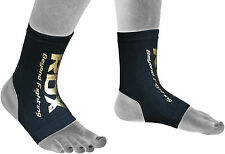 RDX Ankle Foot Support Anklet Pads MMA Brace Guard Gym Sport Sock Protector Shin