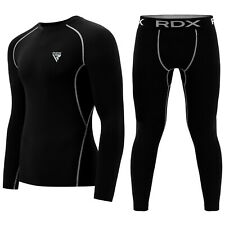RDX Gel Weight Lifting Body Building Gloves Gym Strap Training Leather Fitness B