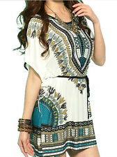 Fashion Summer Bohemian National Wind Retro ice Wire Cotton Dress Holiday Skirt