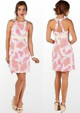 $198 Lilly Pulitzer Tinsley Resort White Conched Out Seersucker Halter Dress