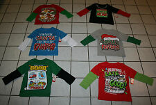 New Boys Holiday Time CHRISTMAS Long Sleeve Tee ~Various Designs~ Toddler Szs